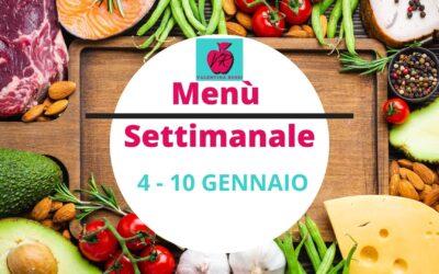 MENU' SETTIMANALE 4 – 10 GENNAIO